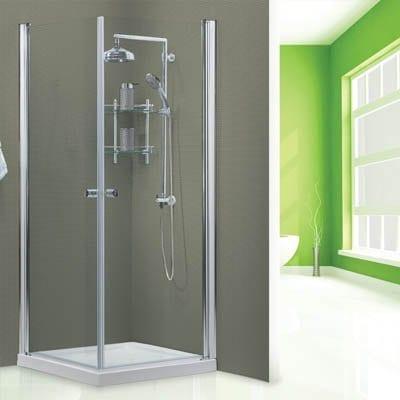 מקלחון פינתי דגם נועה שקוף 80