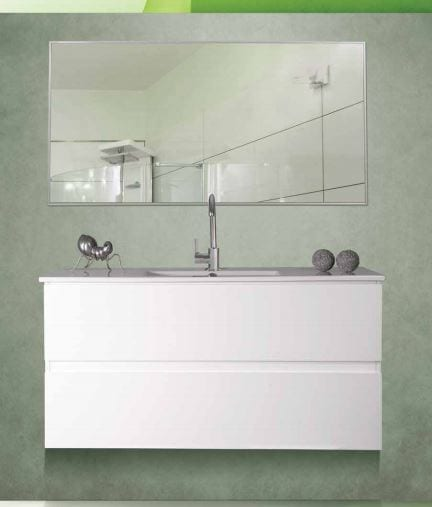ארון אמבטיה דגם לאון ארון + כיור + מראה אפוקסי סגירה שקטה